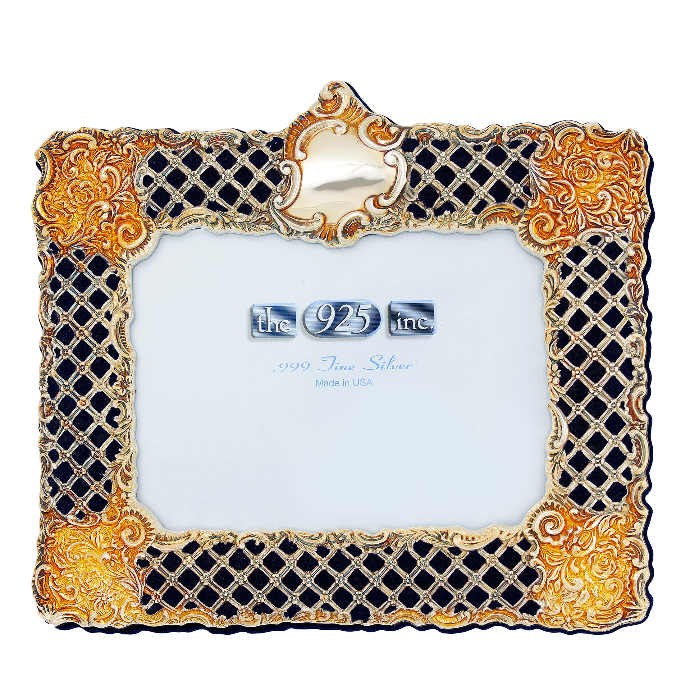 #313 Lattice - Inlay Silver Frame Image